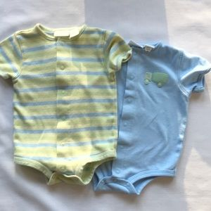 First moments set of 2 onesies 0-3 months